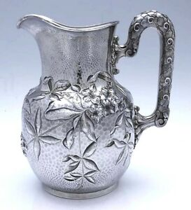 BIGELOW KENNARD Aesthetic Sterling PITCHER LILY PADS Dominick & Haff