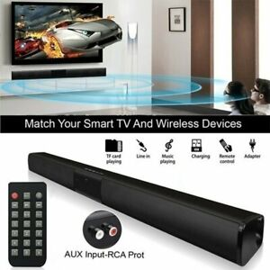 Wireless Bluetooth Soundbar Speaker TV Home Theater Subwoofer with RCA