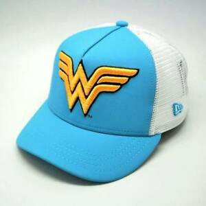 New Era Women Wonder Woman A Frame Trucker Cap Hat Dc Comics Face Truck