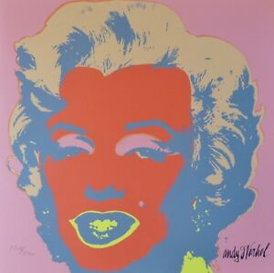 ANDY WARHOL MARILYN MONROE 1986 HAND NUMBERED 22182400 LITHOGRAPH signed