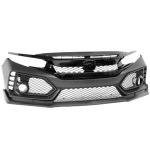 16 17 18 Honda Civic X TYPE R Front Bumper Grilles Eyelids Lip Conversion Swap