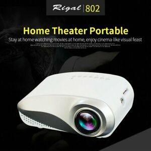 1080P LED Projectors Home Multimedia Cinema Support AV TV VGA USB HDMI SD Phone