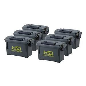 Plastic Ammo Boxes 6 Pack Large Size Top Quality by High Desert