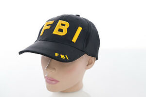 Fbi Cap Hat Baseball Bb Cotton Bw with Embroidery Print New