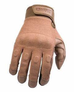 STRONGSUIT Warrior Glove TAN DDH Leather Smartphone Kevlar Protection Tactical