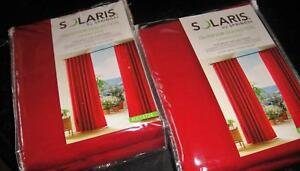 Solaris by Springs SET of 2 Outdoor Solid Red Drapery Panels 54