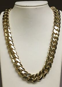 18k Solid Yellow Gold Miami Cuban Curb Link 20