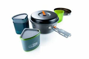GSI Unisex Pinnacle Backpacker Cook and Eat Set Grey One Size