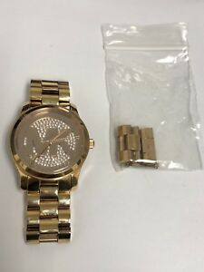 Michael Kors MK5853 Women's Rose Gold Tone Bracelet Rose MK Logo Dial Watch
