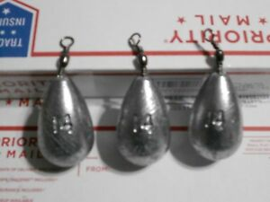 16 - 14 OZ HANDMADE LEAD BELL SINKERS WITH SWIVEL EYES FROM A DO-IT-MOLD
