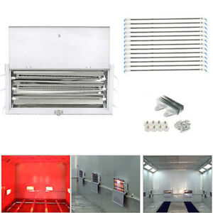 128X 3KW SprayBaking Booth Infrared Paint Curing Lamps Heaters Heating Lights
