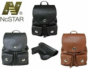 Vism Leather Concealed Carry Gun Purse CCW Women's CCW Backpack Holster Handbag