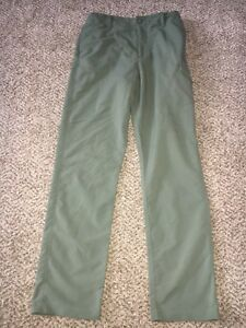 Boys Under Armour Heatgear Army Green Golf Pants Size Youth Large