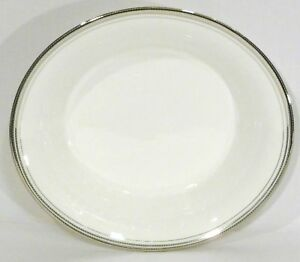 Monique Lhuillier for Waterford Platine Oval Vegetable Bowl 10 1/2