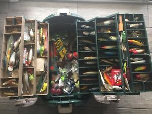 Huge Fishing Tackle Box Full Of Fishing Lures Some New & Vintage Great Deal !