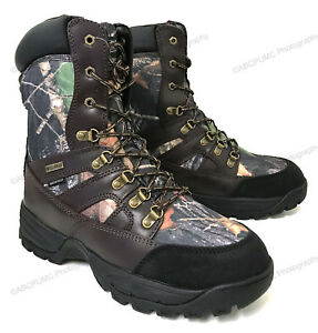 Men#x27;s Hunting Boots Waterproof Winter Snow Leather amp; Nylon Thinsulate 600 grams