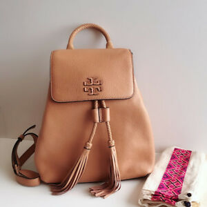 NEW Tory Burch Taylor Leather Backpack - Saddle (Brown)
