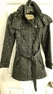 burberry brit quilted jacket black small