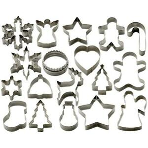 StarPack Christmas Cookie Cutters Set (18 Piece) Favorite Holiday Shapes Man -