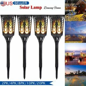 10 20 Pack 96 LED Waterproof  Flame Solar Torch Light Garden Lamp Outdoor MA