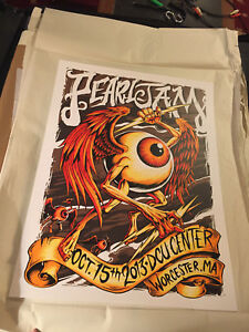 Pearl Jam Poster -  Worcester 2013 - Heart