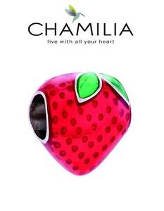 Genuine CHAMILIA 925 sterling silver STRAWBERRY bracelet charm bead Wimbledon