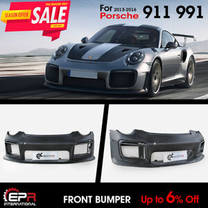 For Porsche 911 991 GT2RS Style FRP Front Bumper (Need 911.2 DRL