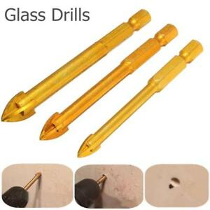 3pcs Porcelain Spear Head Ceramic Tile Glass Marble Drill Bits Set 6 8 10mm