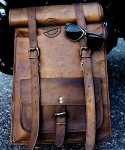New Genuine Retro Leather Backpack Rucksack Travel Bag For Men's and Women's