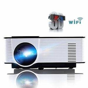 HD Smart 3D LED Projector Video Wifi Bluetooth Home Theater 1080p 5000 Lumens