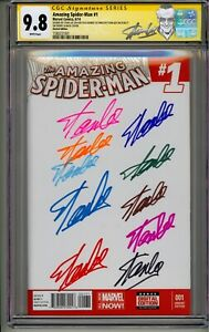 AMAZING SPIDER-MAN #1 CGC SS 9.8 STAN LEE SIGNED 11X  IN COLORED SHARPIES 11