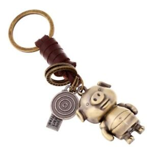 Cartoon New Year Pig Key Chain Gift Keychain Car Leather Pendant Ring Accessory