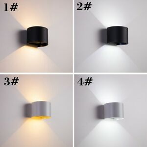 Modern 12W LED Outdoor Up/Down Lamp COB Waterproof Wall Sconce Adjustable Light