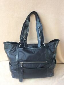 See By Chloe Large Black Nylon  Patent Leather large Tote bag handbag