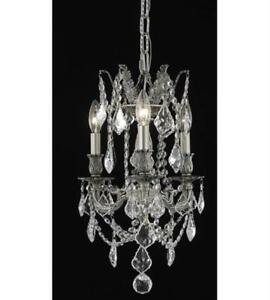 Pendants Porch 3 Light With Clear Crystal Royal Cut Pewter size 13 in 180 Watts
