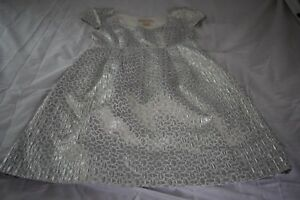 Womens MICHAEL KORS Short Sleeve Silver Cocktail Party Dress NWOT Size 8