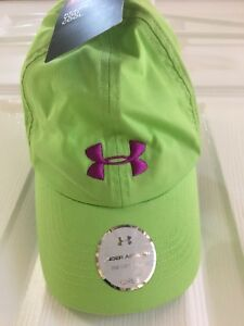 Under Armour Heat Gear adjustable back girls youth green cap hat new