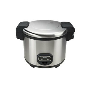 Aroma 60-Cup Cool Touch Commercial Rice Cooker Stainless Steel