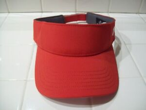 WOMENS UNDER ARMOUR GOLF VISOR HAT RED ADJUSTABLE TAB ONE SIZE NWOT NEW