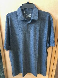 Under Armour Golf Loose Collared Short Sleeve Shirt NWT XL Tall Heathered Gray