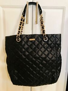 Authentic LARGE Black Quilted Patent Leather KATE SPADE ToteHandbag NEVER USED