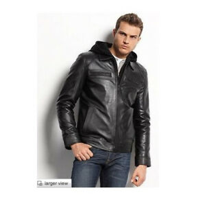Guess leather Jacket Moto Styled Men's Small New Without Tags