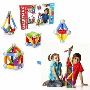 Magnetic Construction Set Building Blocks STEM Toy SmartMax Basic 42 for Toddler