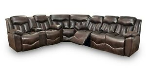 Franklin Furniture - Hendrix 3 Piece Reclining Dual Power Recline Sectional in T