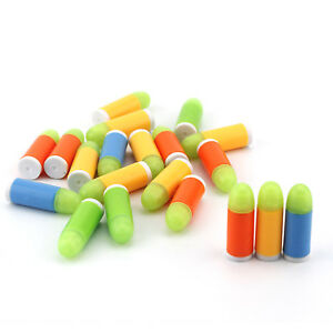 20/50PCS Soft Rubber Refill Bullet Pack for Kids Toy 1:1 Scale Colt 1911 Pistol