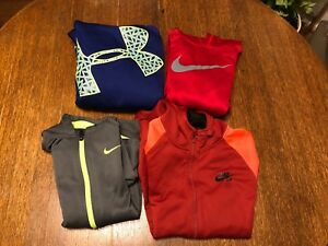 Lot of 4 Boys Nike Under Armour Storm Hoodie Sweatshirt Size Youth Large Xl Kids