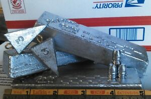 66 LBS++ Clean LEAD INGOTS 4 Casting Bullets & Sinkers *NC RNG*  FREE SHIPPING