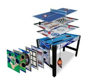 Triumph 13-In-1 Combo Game Table Includes Basketball Table Tennis Billiards P