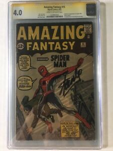 Amazing Fantasy #15 CGC 4.0 Signed Stan Lee CreamOff White No Chipping!