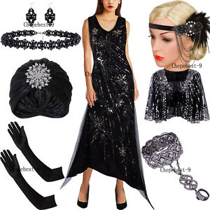 Long Prom Dresses Vintage Style Evening Gowns 1920s Flapper Dress Party Cocktail